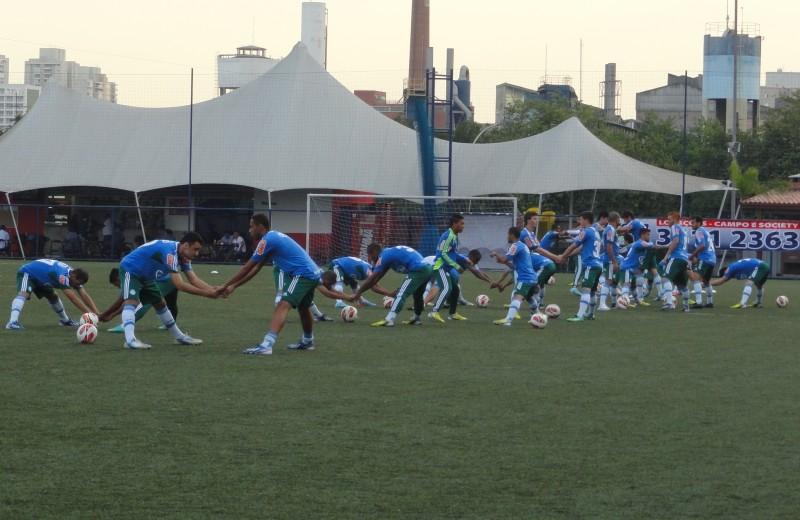 PALMEIRAS treina na ARENA WS como preparação para duelo diante do Tijuana, pelas oitavas de final da Libertadores 2013