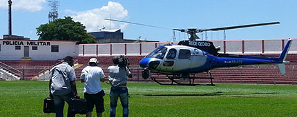 Gravação da TV Globo na Arena WS